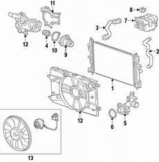 2012 cruze engine diagram oem 2012 chevrolet cruze radiator components parts gm parts club