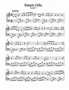 free piano arrangement sheet music simple gifts level 3 free sheet music pinterest level