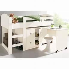 lit 1 personne mezzanine lit mezzanine 1 personne bureau rangements blanc