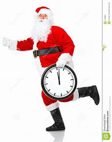 running christmas santa stock image image of time isolated 7139801