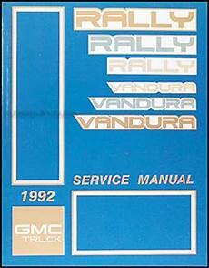 service repair manual free download 1992 gmc vandura 1500 transmission control 1992 gmc vandura rally repair shop manual original