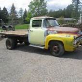 1956 Ford F600 Flatbed Truck F100 Custom Cab For Sale