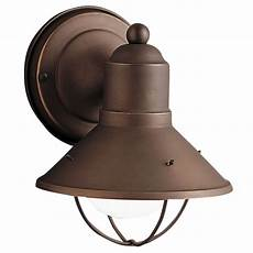 kichler nautical outdoor wall light in bronze finish