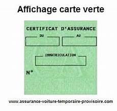 affichage carte verte assurance auto provisoire
