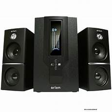 audio system subwoofer arion legacy 2 1 channel speaker system with subwoofer