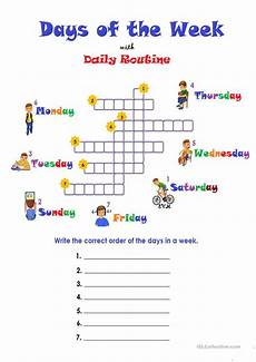 free worksheets days of the week 18254 days of the week routine worksheet free esl printable worksheets made by teachers