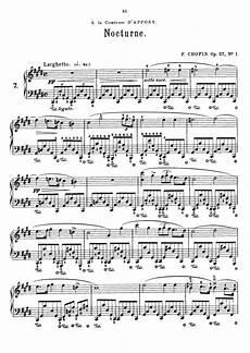 chopin nocturne op 27 no 1 sheet music op 27 no 1 free sheet music by chopin pianoshelf