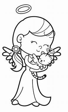 Ausmalbilder Weihnachten Engel Kostenlos Ausmalbild Engel Engel Mit Engel Katze Kostenlos Ausdrucken