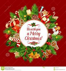 merry christmas holiday wish vector greeting card stock vector illustration of decoration