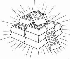 Malvorlagen Gold Goldbarren 2 Ausmalbild Malvorlage Geld