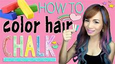 How To Use Hair Color how to color hair using chalk cheap and easy hair hack