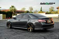 2011 toyota camry on 20 quot str 607 titanium wheels staggered