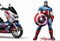 Nmax Modif Stiker by Modifikasi Yamaha Nmax Stiker Ala Captain America