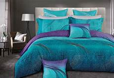 Turquoise Duvet Cover by Size Zephyr Quilt Cover Set 3pc Turquoise Purple
