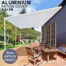 diy pergola kit outdoor patio deck cover roof 6 2 3m verandah aluminum wholesales direct