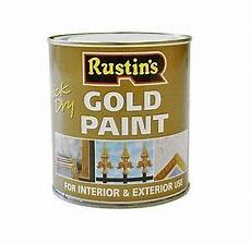 rustins 500ml gold paint quick dry interior exterior for and metal 5015332271030 ebay