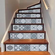 3d mediterrean ceramic pattern tile wall stairs stickers