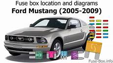 location ford mustang fuse box location and diagrams ford mustang 2005 2009