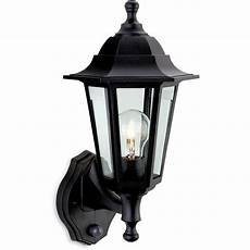 firstlight malmo single light outdoor wall lantern in black finish with clear glass panels with