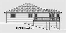 sloped land house plans side sloping lot house plans walkout basement house plans