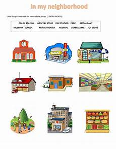 places in my city worksheets 15968 places in my neighborhood interactive worksheet