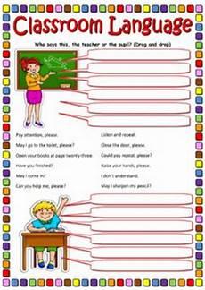 english exercises classroom language