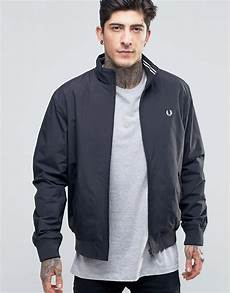 fred perry fred perry harrington jacket in navy