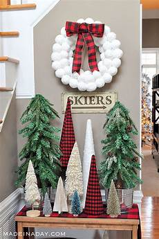 Buffalo Plaid Decorations by Buffalo Plaid Forest Entryway Made In A Day
