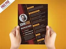creative graphic designer resume template psd download psd