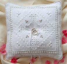cross stitch wedding ring pillows photos of cross stitch