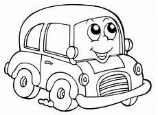 kostenlose malvorlage transportmittel auto mit lustigem
