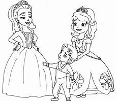 sofia the coloring pages two princesses and a baby