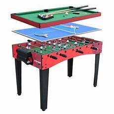noname multijeux 3 en 1 billard baby foot ping pong