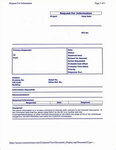 construction rfi templates find word templates