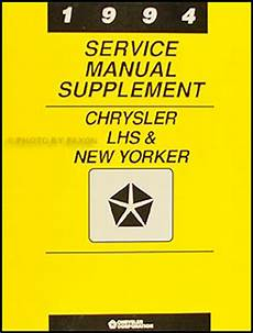 auto repair manual free download 1994 chrysler lhs windshield wipe control 1994 chrysler lhs and new yorker preliminary repair shop manual supplement