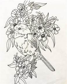 Malvorlagen Tiere Blumen Pin Baumgaertner Auf Malen In 2020 Vogel
