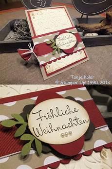 Weihnachtskarten Selbst Gemacht Kreativ Mit Tanja