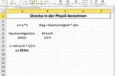 strecke berechnen in physik so geht s