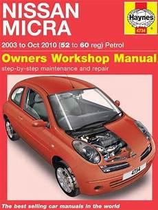 nissan micra k12 petrol 2003 2010 haynes service repair manual sagin workshop car manuals nissan micra k12 petrol 2003 2010 haynes owners service repair manual 1785210467