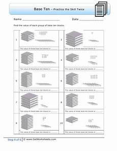 2nd grade math worksheet base ten second grade step 4 exle