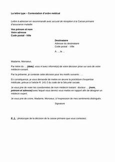 Exemple De Lettre De Contestation Securite Sociale