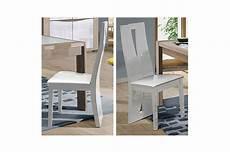 chaise de repas blanche laqu 233 e assise en simili cuir