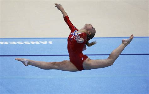 Gymnast Wardrobe Malfunction Floor Routine