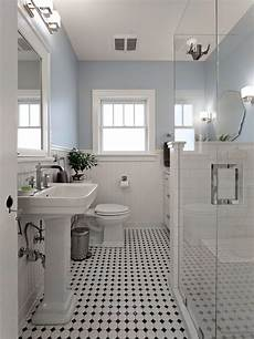 Blue And White Bathroom Bathroom With Black