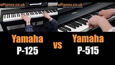 yamaha p 125 test yamaha p 125 vs p 515 comparison what piano