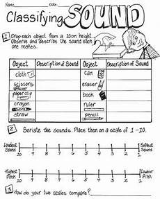 sound energy classifying sound worksheets
