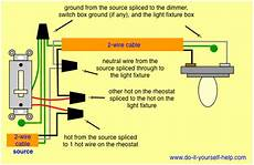 Wiring Diagram For A Rheostat Dimmer Light Switch Wiring