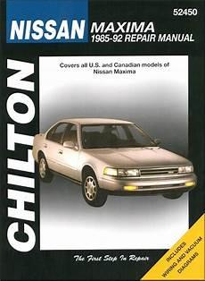 book repair manual 1992 nissan maxima auto manual nissan maxima repair service manual 1985 1992 chilton 52450