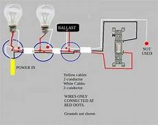 troubleshooting problem wiring power gt two fluorescent ballasts gt switch doityourself com