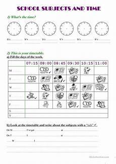 39 free esl timetable worksheets